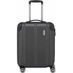 Mažas plastikinis lagaminas Travelite City M tamsiai pilkas