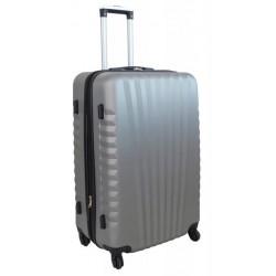 Vidutinis plastikinis lagaminas Gravitt 888-2Z-V Sidabro spalva