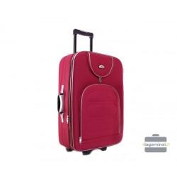 Vidutinis medžiaginis lagaminas Deli 801-V Tamsiai raudonas