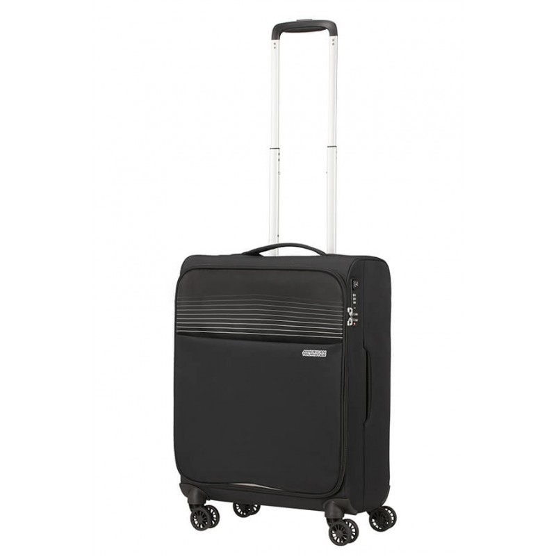 Mažas lagaminas American Tourister Lite Ray M-4W Juodas