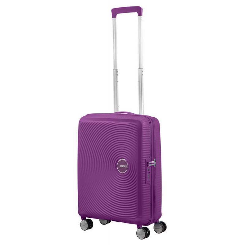 Mažas lagaminas American Tourister Soundbox M Violetinis