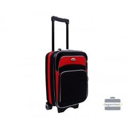 Mažas medžiaginis lagaminas Deli 101-M Juodas/raudonas