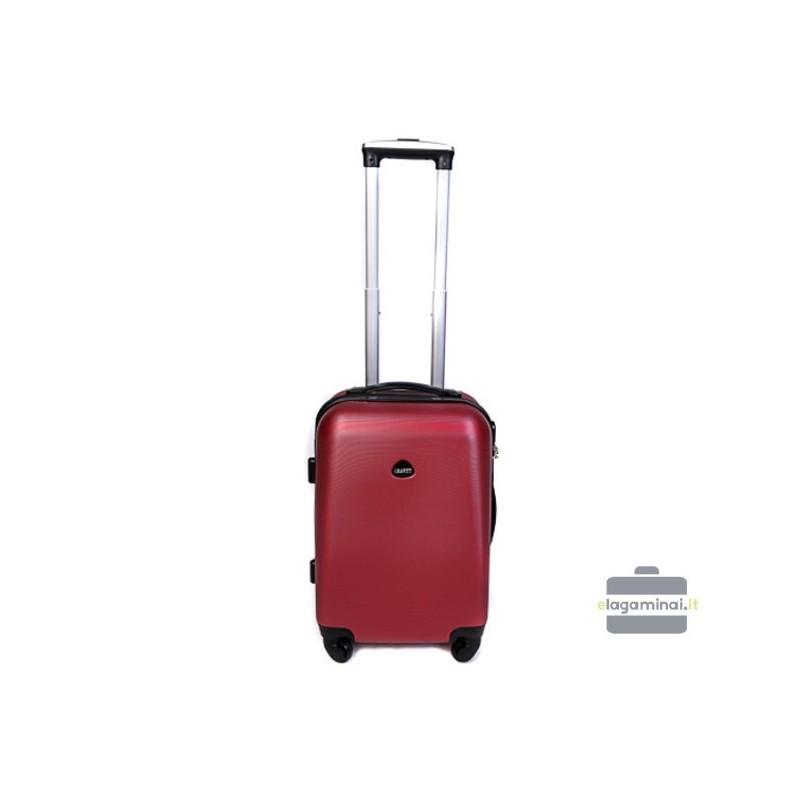 Mažas plastikinis lagaminas Gravitt 866-M Tamsiai raudonas