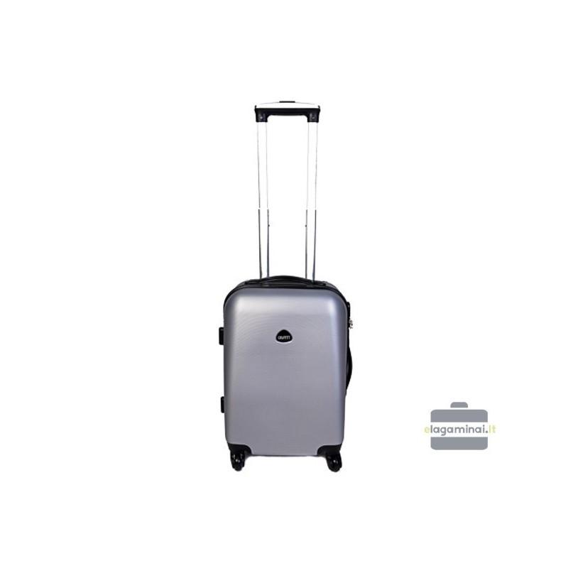 Mažas plastikinis lagaminas Gravitt 866-M Sidabro spalva