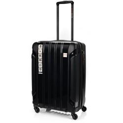Vidutinis plastikinis lagaminas Swissbags Tourist PP-V Juodas