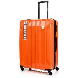 Didelis plastikinis lagaminas Swissbags Tourist PP-D Oranžinis