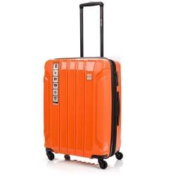 Vidutinis plastikinis lagaminas Swissbags Tourist PP-V Oranžinis