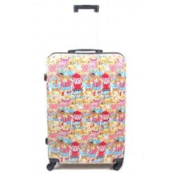 Vidutinis plastikinis lagaminas  Bagia Teddy Bear V