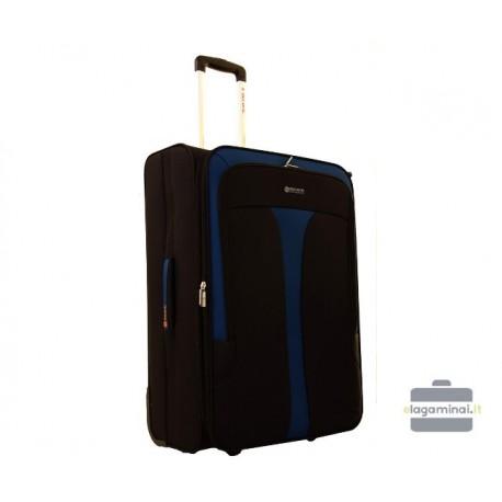 Vidutinis medžiaginis lagaminas Gravitt 6229-V Juodas/mėlynas