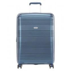 Vidutinis plastikinis lagaminas Travelite Zenit V Tamsiai mėlynas