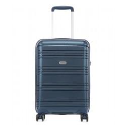 Mažas plastikinis lagaminas Travelite Zenit M Tamsiai mėlynas