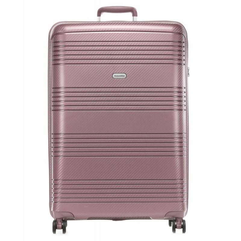 Didelis plastikinis lagaminas Travelite Zenit D Tamsiai rožinis
