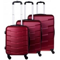 Didelis plastikinis lagaminas Bagia 8090-D Tamsiai raudonas