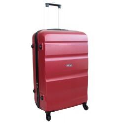 Vidutinis plastikinis lagaminas Gravitt Travel 710-V Tamsiai raudonas