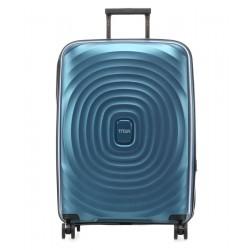 Vidutinis plastikinis lagaminas Looping-V Mėlynas