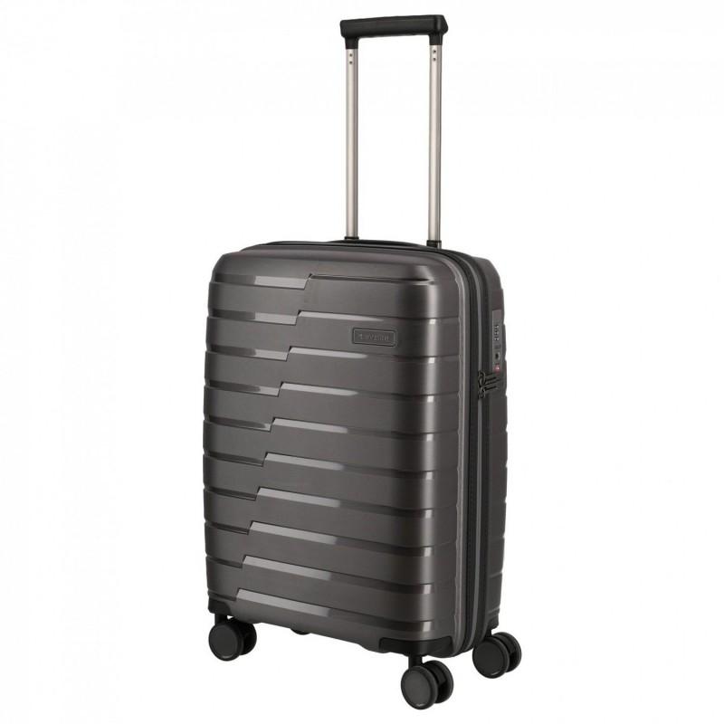 Mažas plastikinis lagaminas Travelite Air Base M Tamsiai pilkas
