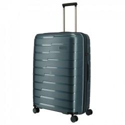 Didelis plastikinis lagaminas Travelite Air Base D Pilkai mėlynas
