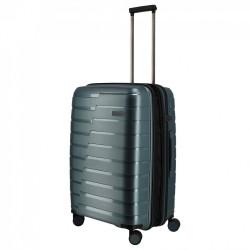 Vidutinis plastikinis lagaminas Travelite Air Base V Pilkai mėlynas