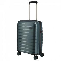 Mažas plastikinis lagaminas Travelite Air Base M Pilkai mėlynas