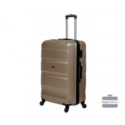 Vidutinis plastikinis lagaminas Gravitt Travel 710-V Šampano spalva