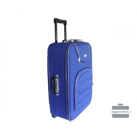 Didelis medžiaginis lagaminas Deli 801-D Mėlynas