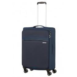 Vidutinis lagaminas American Tourister Lite Ray V Tamsiai mėlynas