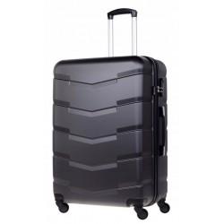 Vidutinis plastikinis lagaminas Bagia 8090-V Tamsiai pilkas
