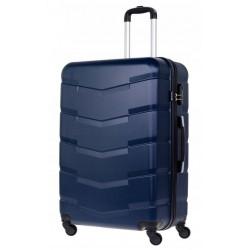 Didelis plastikinis lagaminas Bagia 8090-D Tamsiai mėlynas