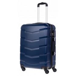 Vidutinis plastikinis lagaminas Bagia 8090-V Tamsiai mėlynas