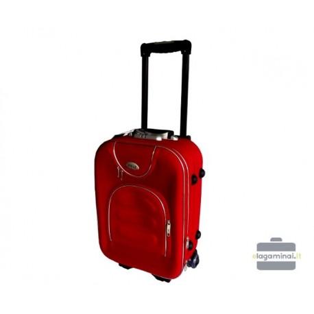 Mažas medžiaginis lagaminas Deli 801-M Raudonas