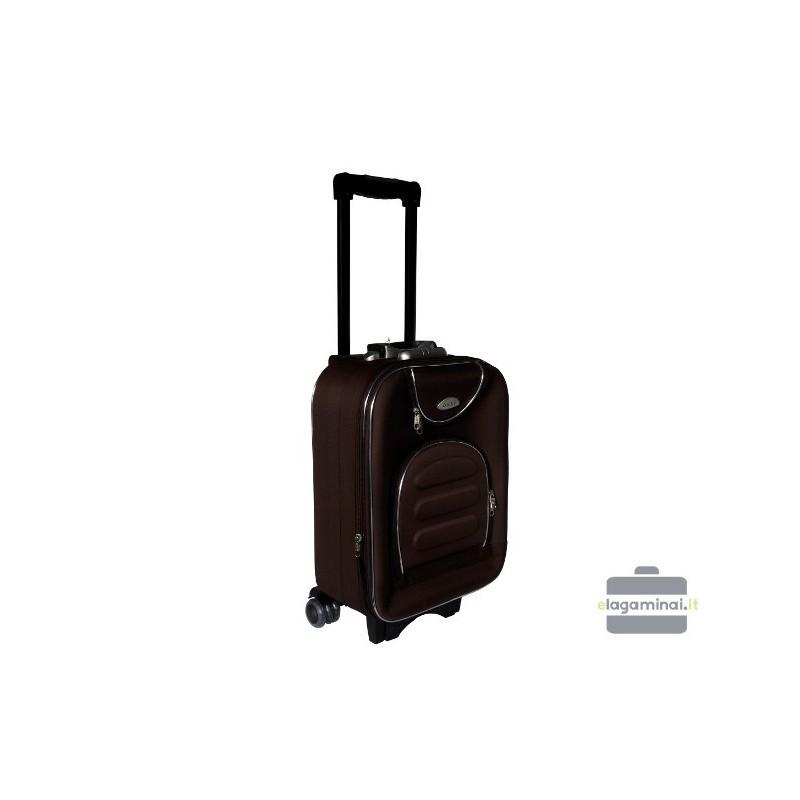 Mažas medžiaginis lagaminas Deli 801-M Rudas
