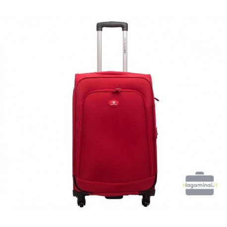Vidutinis medžiaginis lagaminas David Jones 2000-V Raudonas