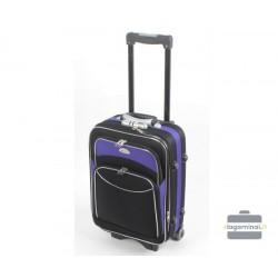 Mažas medžiaginis lagaminas Deli 101-M Juodas/violetinis