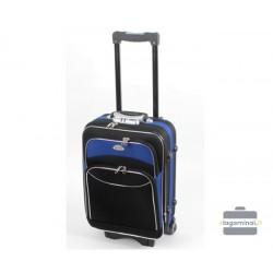 Mažas medžiaginis lagaminas Deli 101-M Juodas/mėlynas
