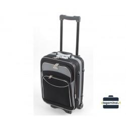Mažas medžiaginis lagaminas Deli 101-M Juodas/pilkas