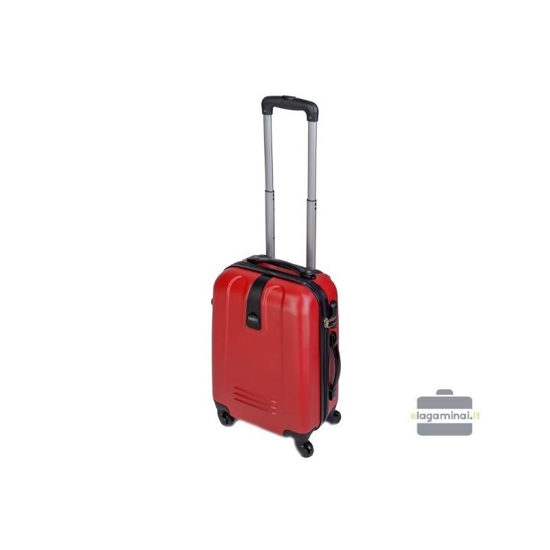 Mažas plastikinis lagaminas Gravitt 602-M Raudonas