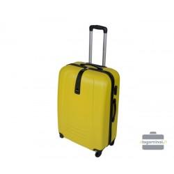 Vidutinis plastikinis lagaminas Gravitt 602-V Geltonas