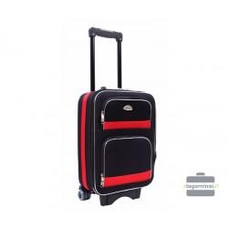 Mažas medžiaginis lagaminas Deli 901-M Juodas/raudonas