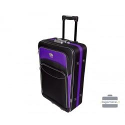 Didelis medžiaginis lagaminas Deli 101-D Juodas/violetinis