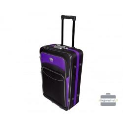 Vidutinis medžiaginis lagaminas Deli 101-V Juodas/violetinis