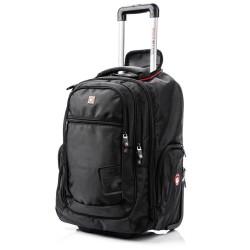Krepšys su ratukais - kuprinė 17,3 colio kompiuteriui Swissbags+ Traveller 42L Juodas