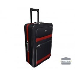 Didelis medžiaginis lagaminas Deli 901-D Juodas/raudonas