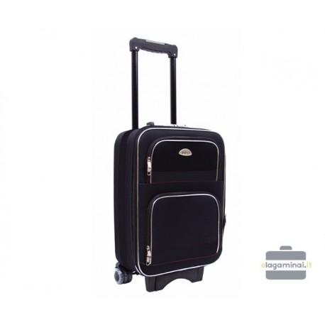 Mažas medžiaginis lagaminas Deli 901-M Juodas
