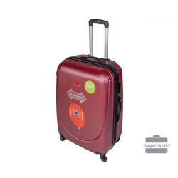 Vidutinis plastikinis lagaminas Gravitt 310-V Tamsiai raudonas