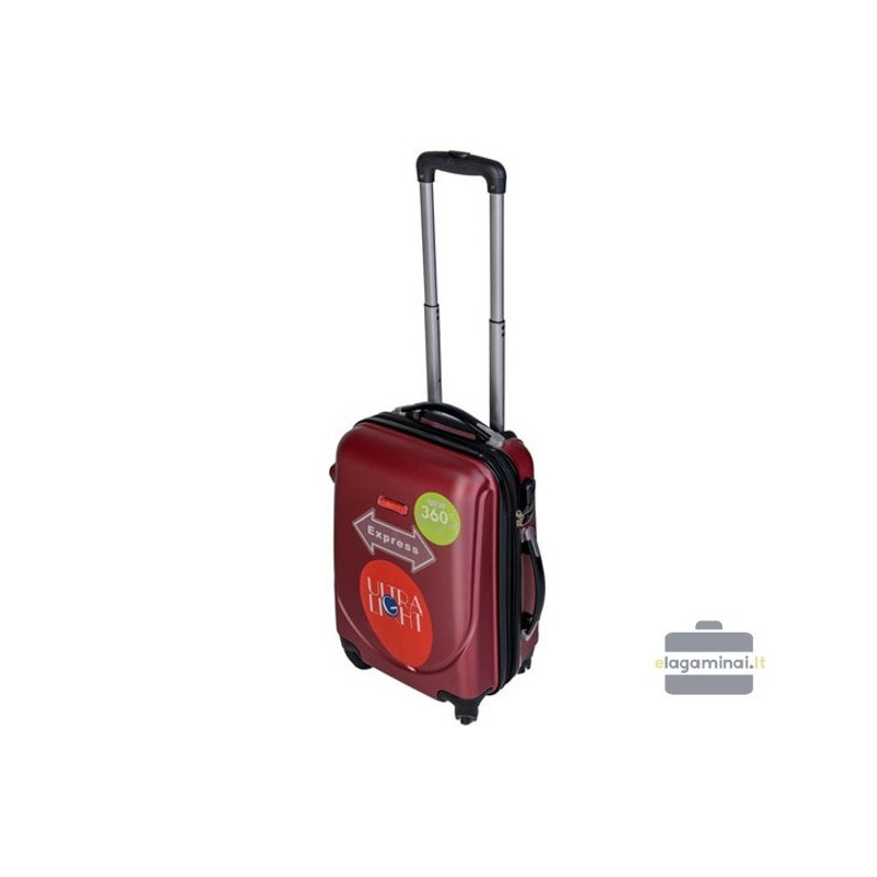Mažas plastikinis lagaminas Gravitt 310-M Tamsiai raudonas