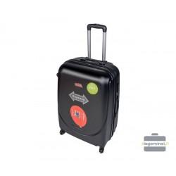 Mažas plastikinis lagaminas Gravitt 310-M Juodas