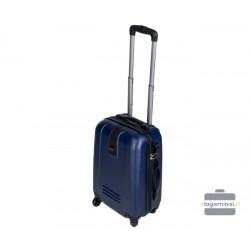 Mažas plastikinis lagaminas Gravitt 168-M Mėlynas