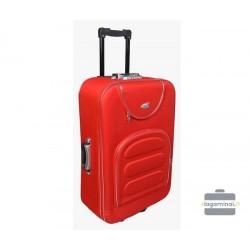 Vidutinis medžiaginis lagaminas Deli 801-V Raudonas