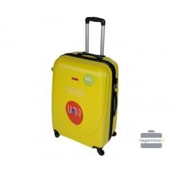 Vidutinis plastikinis lagaminas Gravitt 310-V Geltonas