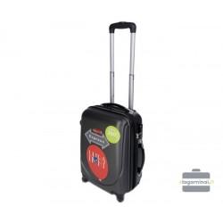 Mažas plastikinis lagaminas Gravitt 310-M Tamsiai pilkas